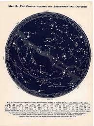 1963 Constellations Star Map Original Vintage Celestial