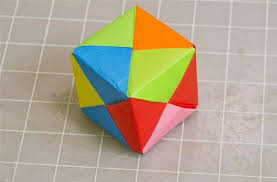 Square Paper Modular Origami How To Make A Cube Octahedron Icosahedron From