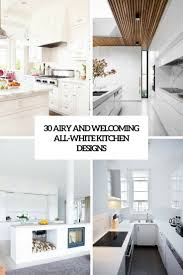 all white kitchen designs. Airy And Welcoming All White Kitchen Designs Cover E