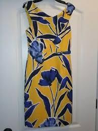 Details About Nwt Antonio Melani Katherine Sheath Dress Size 4 Yellow Blue Floral