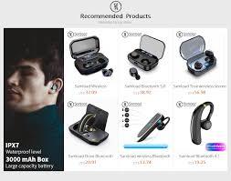 Samload IPX7 <b>Bluetooth</b> Earphone <b>F8 TWS Wireless</b> Earbuds ...