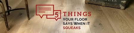 floor says when it squeaks