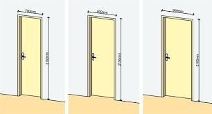 standard interior door heights dimensions sizes chart size south africa