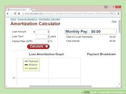 Vehicle Loan Amortization Calculator Excel Image Titled Prepare Amortization Stand Out Home