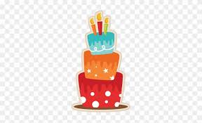 Birthday Cake Svg Scrapbook Cut File Cute Clipart Files Orange