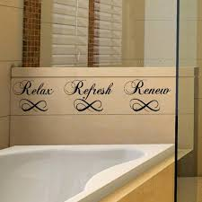 relax refresh renew bathroom wall decals vinyl sayings stickers e iwallsticker com