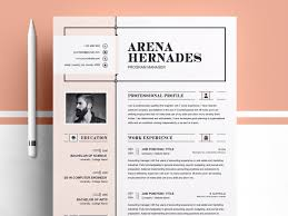Printable Cv Templates Modern Resume Template By Templates On Dribbble