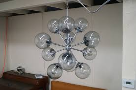 mid century modern vintage chrome sputnik chandelier for