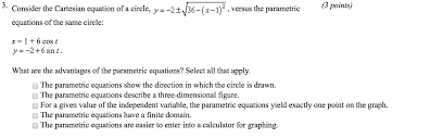 3 consider the cartesian equation of a circle y 2t 36 t