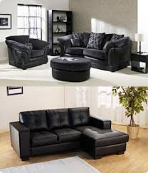 leather fabric covered sofas or suites