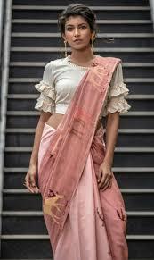 Latest Frill Blouse Design Blouses In 2019 Saree Blouse Neck Designs Sari Blouse