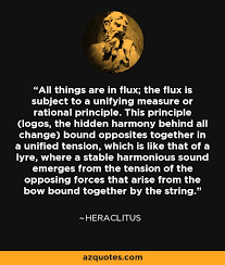 Heraclitus Quotes Fascinating Heraclitus Quote All Things Are In Flux The Flux Is Subject To