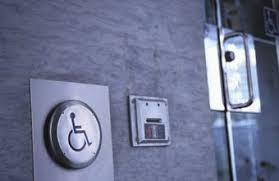 disabled bathroom door lock. federal rules regulate door access for the disabled. disabled bathroom lock