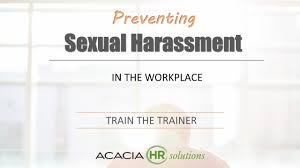 Harassment sexual train trainer training