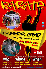 Summer Camp Flyer Template Gorgeous Karate Summer Camp Poster Template PosterMyWall