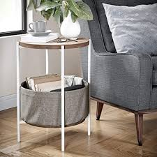Nathan James Oraa Round Wood Side Table with ... - Amazon.com