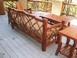 rustic patio furniture set