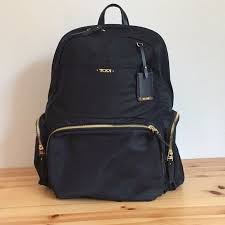 new auth tumi calais voyageur backpack in black for business travellers open box