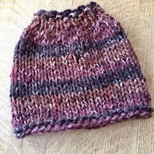 Messy Bun Beanie Knitting Pattern Simple Decorating Ideas