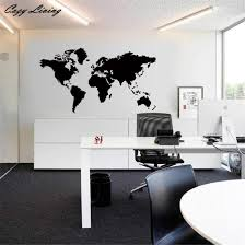 home office wallpaper. Wall Stickers World Map Removable Vinyl Sticker Wallpaper Home Office Art Decal Poster D12