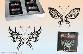 Tetování černý Motýl
