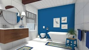 bathroom accent furniture. Easy Bathroom Update - Add A Blue Accent Wall Furniture