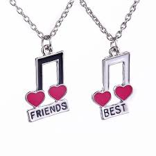 Bff color pages to color google search coloring pages super. Women Fashion Jewelry Music Notes Best Friend For 2 Bff Heart Music Note Best Friends Forever Friendship Pendant Necklace Gift Best Friends Forever Friends Foreverbest Friend Aliexpress