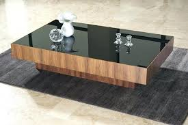 3 drawers living room furniture black glass coffee table image of modern designs top wood