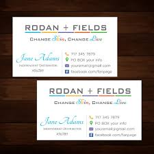 Name Card Classy Rodan And Fields Business Cards Elegant Rodan And Fields R Rodan