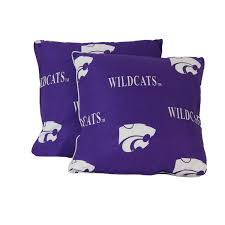 Decorative Pillow Set Diehardfans Kansas State Wildcats Decorative Pillow Set