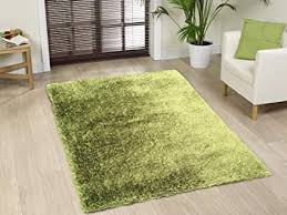 G Shag Viscose Solid Hunter Green Area Rug Hand Tufted Rug 5 X 7 Hand Made