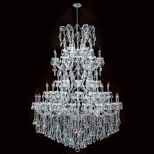 maria theresa collection 61 light chrome finish crystal chandelier 54 d x 62 h four 4 tier round