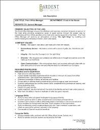 resume front office manager front office manager resume sample free resume for front office manager