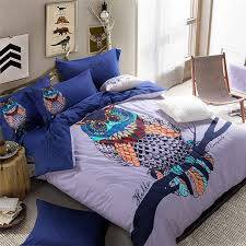 Aliexpress.com : Buy Fashion Owl Bedding Sets King Size,100 ... & Aliexpress.com : Buy Fashion Owl Bedding Sets King Size,100% Cotton 4pc  Sanding Bed Sets,Queen King Size Owl Duvet Cover Sets For Boys Bedding from  Reliable ... Adamdwight.com
