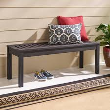 better homes and gardens delahey backless outdoor bench dark brown com
