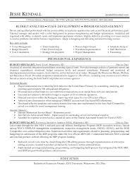 Pdf Budget Analyst Resume Federal Government.