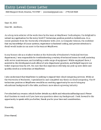 professional cover letter exles for