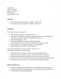 Sample Resume For Internship No Experience Template