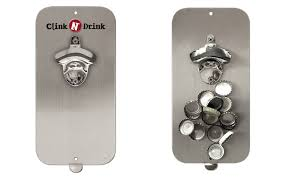 magnetic bottle opener and cap catcher. Wonderful Bottle Clink N Drink  Bottle Opener With Magnetic Cap Catcher On And