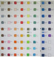 Blick Studio Markers Color Chart Blick Studio Color Chart By Josephine9606 On Deviantart In
