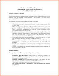 Social Work Resumes Impressive Work Statement Examples Resume Template Personal Guidelines For