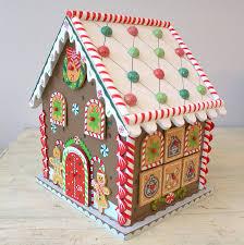 wooden gingerbread house advent calendar by little ella