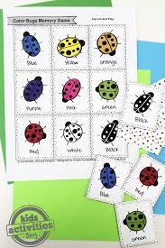 Your little one can color and explore bugs with these super adorable bugs coloring pages that will keep them busy and enjoying some quiet time indoors. Color Bugs Memory Game Free Kids Printable