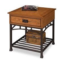 home styles modern craftsman oak composite craftsman end table