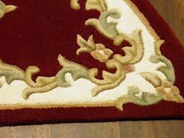 half moon 100 wool rugs new super thick pile 67cmx137cm red cream lovley rugs