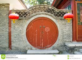 Decorating circular door images : Asian China, Antique Buildings, Circular Door Stock Image - Image ...