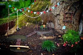 View in gallery. View in gallery. Design the fairy garden around a tree.