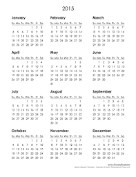 Monthly Blank Calendar 2015 2015 Free Printable Yearly Calendar Slotbet Info