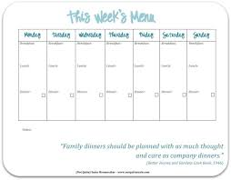 monthly meal planner template monthly menu planner templates meal planning with grocery list