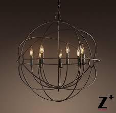 replica item industrial diam 80cm 7 lights 1920s foucault s orb chandelier vintage iron globe candle bubble chandelier lantern chandelier from zplus